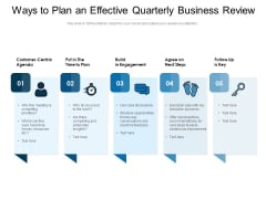 Ways To Plan An Effective Quarterly Business Review Ppt PowerPoint Presentation File Formats PDF