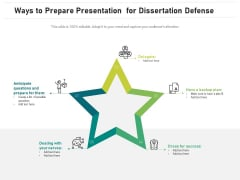 Ways To Prepare Presentation For Dissertation Defense Ppt PowerPoint Presentation Summary Infographic Template PDF