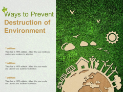 Ways To Prevent Destruction Of Environment Ppt PowerPoint Presentation Infographics Guidelines
