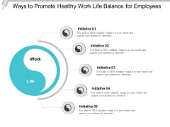 Ways To Promote Healthy Work Life Balance For Employees Ppt PowerPoint Presentation Infographics Example