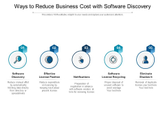 Ways To Reduce Business Cost With Software Discovery Ppt PowerPoint Presentation Ideas Summary PDF