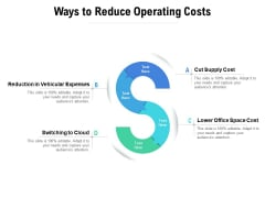 Ways To Reduce Operating Costs Ppt PowerPoint Presentation Portfolio Aids