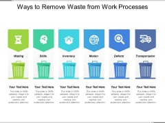 Ways To Remove Waste From Work Processes Ppt PowerPoint Presentation Summary Topics PDF
