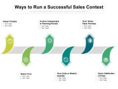 Ways To Run A Successful Sales Contest Ppt PowerPoint Presentation Inspiration Summary PDF