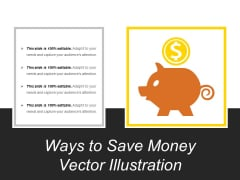 Ways To Save Money Vector Illustration Ppt PowerPoint Presentation Show Background Images PDF