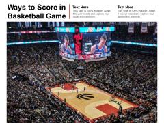 Ways To Score In Basketball Game Ppt PowerPoint Presentation Infographics Portfolio