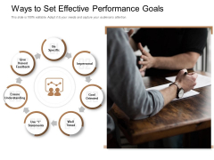 Ways To Set Effective Performance Goals Ppt PowerPoint Presentation Outline Clipart Images PDF