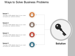 Ways To Solve Business Problems Ppt PowerPoint Presentation Pictures Slide Portrait PDF
