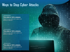 Ways To Stop Cyber Attacks Ppt PowerPoint Presentation Inspiration Outline
