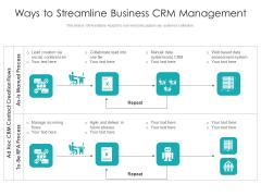 Ways To Streamline Business Crm Management Ppt PowerPoint Presentation Professional Designs Download PDF