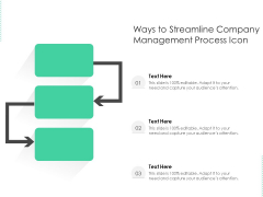 Ways To Streamline Company Management Process Icon Ppt PowerPoint Presentation File Professional PDF