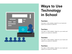 Ways To Use Technology In School Ppt PowerPoint Presentation Summary Aids