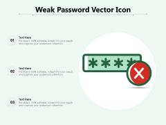 Weak Password Vector Icon Ppt PowerPoint Presentation File Themes PDF
