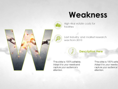 Weakness Ppt PowerPoint Presentation Infographics Topics