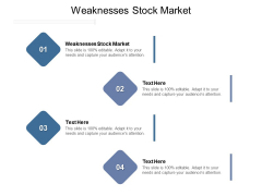 Weaknesses Stock Market Ppt PowerPoint Presentation Inspiration Shapes Cpb Pdf