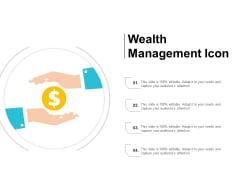 Wealth Management Icon Ppt PowerPoint Presentation Styles Examples