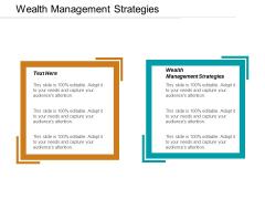 Wealth Management Strategies Ppt PowerPoint Presentation Portfolio Background Cpb