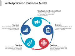 Web Application Business Model Ppt PowerPoint Presentation Professional Background Image Cpb