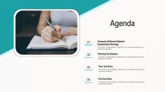 Web Application Improvement Strategies Agenda Clipart PDF