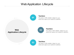 Web Application Lifecycle Ppt PowerPoint Presentation Model Graphic Images Cpb