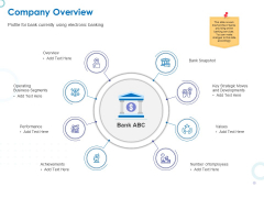 Web Banking For Financial Transactions Company Overview Ppt Gallery Rules PDF