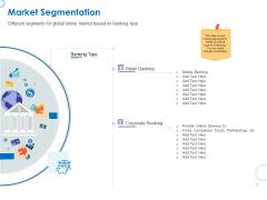 Web Banking For Financial Transactions Market Segmentation Ppt Pictures Design Inspiration PDF