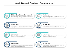 Web Based System Development Ppt PowerPoint Presentation Gallery Background Image Cpb