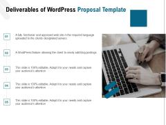 Web Based User Interface Deliverables Of Wordpress Proposal Ppt Outline Design Templates PDF
