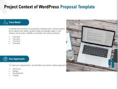 Web Based User Interface Project Context Of Wordpress Proposal Ppt Layouts Slide PDF