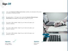 Web Based User Interface Sign Off Ppt Show Gridlines PDF