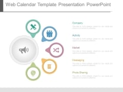 Web Calendar Template Presentation Powerpoint