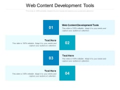Web Content Development Tools Ppt PowerPoint Presentation Styles Pictures Cpb