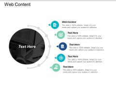 Web Content Ppt PowerPoint Presentation Gallery Professional Cpb