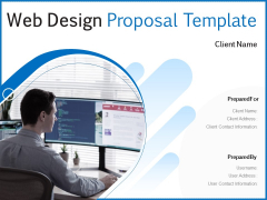 Web Design Proposal Template Ppt PowerPoint Presentation Complete Deck With Slides