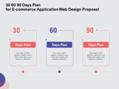 Web Design Services Ecommerce Busines 30 60 90 Days Plan For E Commerce Application Web Design Proposal Sample PDF