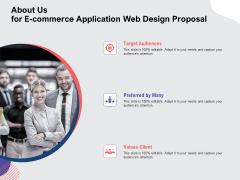 Web Design Services Ecommerce Busines About Us For E Commerce Application Web Design Proposal Formats PDF
