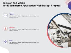 Web Design Services Ecommerce Busines Mission And Vision For E Commerce Application Web Design Proposal Professional PDF