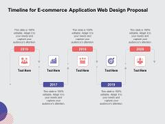 Web Design Services Ecommerce Busines Timeline For E Commerce Application Web Design Proposal Themes PDF
