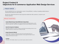 Web Design Services Ecommerce Business Project Context And Objectives For E Commerce Application Web Design Services Download PDF