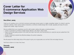 Web Design Services Proposal For Ecommerce Business Cover Letter For E Commerce Application Web Design Services Download PDF