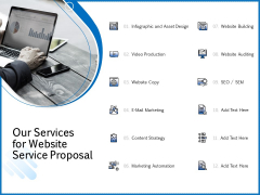 Web Design Template Our Services For Website Service Proposal Download PDF