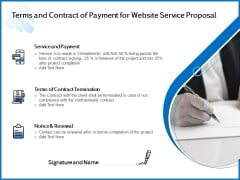 Web Design Template Terms And Contract Of Payment For Website Service Proposal Template PDF