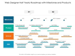 Web Designer Half Yearly Roadmap With Milestones And Products Download