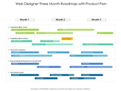 Web Designer Three Month Roadmap With Product Plan Introduction
