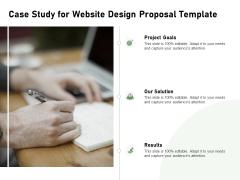 Web Designing Case Study For Website Design Proposal Template Ppt File Example PDF