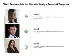Web Designing Client Testimonials For Website Design Proposal Template Ppt Layouts Slide Download PDF