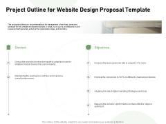 Web Designing Project Outline For Website Design Proposal Template Ppt Slides Objects PDF