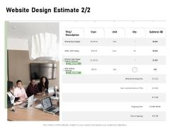 Web Designing Website Design Estimate Ppt File Designs Download PDF