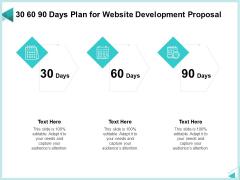 Web Development IT And Design Templates 30 60 90 Days Plan For Website Development Proposal Elements PDF