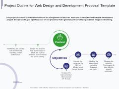 Web Development It And Design Project Outline For Web Design And Development Ppt Inspiration Deck PDF